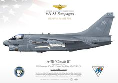 """UNITED STATES NAVYATTACK SQUADRON EIGHT THREE (VA-83) """"Rampagers""""USS Saratoga (CV 60) / Carrier Air Wing 17 (CVW-17)"""