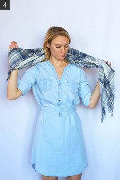 My 9 Favorite (Super Easy) Ways to Tie a Scarf - Style by Joules How To Fold Scarf, How To Wear A Blanket Scarf, Ways To Wear A Scarf, How To Wear Leggings, Scarf Dress, How To Wear Scarves, Ways To Tie Scarves, How To Wear Loafers, Scarf Organization