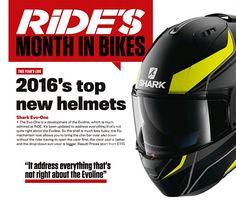 Shark Evo One helmet Shark Motorcycle Helmets, Shark Helmets, Motorcycle News, Motorcycle Outfit, New Helmet, Evo, Motorcycle Suit