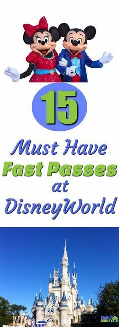 Disney worlds fast pass system is a huge time saver. But you need to know which ones you should book before you get to the park. Here are the top 15 rides to book at Walt Disney World. | Disney World | Fast Pass | Magic Kingdom Rides | Epcot |Animal Kingd