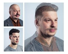 Photos Blending Fathers and Sons