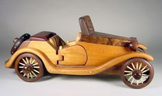 Collector's Series model car puzzle. Multiple hardwoods. Created by Steve Baldwin