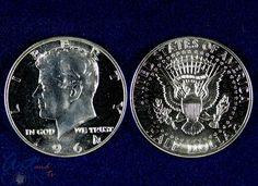 .50 1964 Proof Kennedy Half 90% Silver avaialble at www.artandcointv.com #numismatics