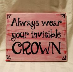 Hand painted canvas sign with quote Always by CoastieGirlDesigns