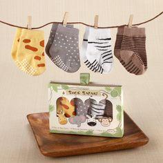 Safari Animal print baby socks.