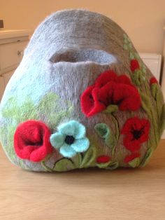 Needle felted Handbag by Sharon