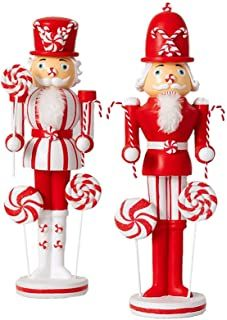 Nutcracker Figures, Nutcracker Ornaments, Red Christmas, Christmas Crafts, Christmas Ornaments, Holiday, Christmas Candy Cane Decorations, Christmas Bedding, Peppermint Candy