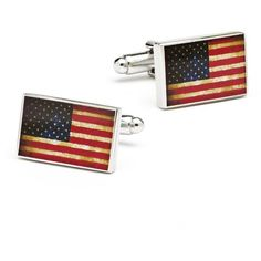 Cufflinks Men's Vintage USA Flag Cuff Links (160 BRL) ❤ liked on Polyvore featuring men's fashion, men's accessories, cuff links, silver, mens cuff links and vintage mens accessories