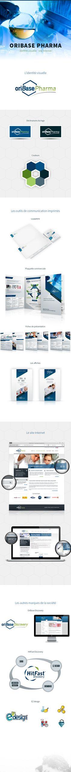 OriBase Pharma by Ramos Jerome, via Behance Behance, Corporate Design