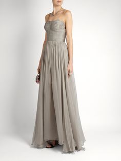 Click here to buy Maria Lucia Hohan Marianne laced-back silk gown at MATCHESFASHION.COM