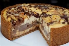 Baked Chocolate And Amaretto Cheesecake