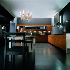 Arrital Methra Modern Kitchen Black Interior