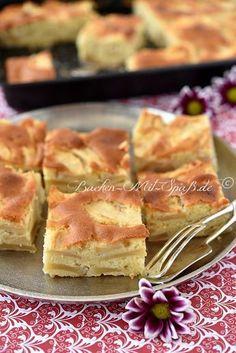 Ein einfacher, schneller und saftiger Rührkuchen mit Apfelstücken. Die Menge der Äpfel ist sehr hoch im Vergleich zur Menge des...