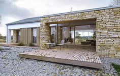 Ready-made house designs Farmhouse Architecture, Residential Architecture, Interior Architecture, Self Build Houses, Energy Efficient Homes, Interesting Buildings, Modern Barn, Prefab Homes, Beautiful Architecture