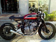 Honda. Built by jigsaw Custom Motorcycles . .