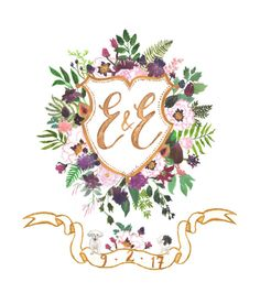A hand painted, completely custom, watercolor crest - a beautiful heirloom of original art to embellish wedding stationery, celebrate a marriage, welcome a new human to this earth, honour family history, or create a new tradition!  This listing includes: Endless revisions: this is my guarantee that your design will absolutely make you happy Crest Variations: included in this pricing are monogram variations on the crest (for example, for pre-wedding, and married initials, or full names, or…