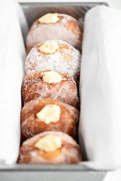 These delicious Pennsylvania Dutch Fasnacht Doughnuts are deep fried to a golden brown and covered with sugar, cinnamon sugar, and powdered sugar. Best Donut Recipe, Donut Recipes, Pastry Recipes, Baking Recipes, Deep Fried Donut Recipe, Baking Ideas, Fastnachts Recipe, Butter Recipe, Pennsylvania Dutch