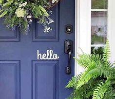 Hello Front Door Decal
