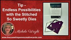 Tip - Endless Possibilities with the Stitched So Sweet Dies Card Making Tips, Card Making Supplies, Card Making Tutorials, Creative Cards, Cardmaking, Stamping, Boxes, Packaging, Tags