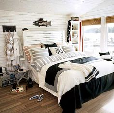 Bedroom inspiration minus the fish on the wall