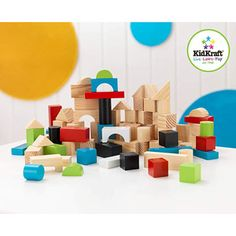 KidKraft Wooden Block Set $22. the baby can associate where to put them and how they fit together