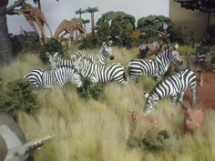 New pics of African diorama with the new animals - Laughing Giraffe