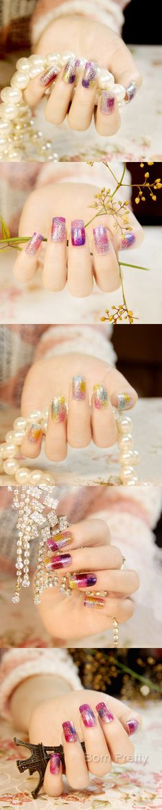 $3.35 1Sheet Nail Wraps Charming Multi-color Mini Grids Color Changing Patterned Full Nail Sticker - BornPrettyStore.com
