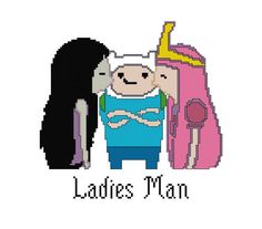 Adventure Time Cross Stitch Pattern by PlatoSquirrel on Etsy, $3.00