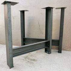 Metal Table Legs set of 2 C channel c4x5.4 by SteelImpression                                                                                                                                                                                 More