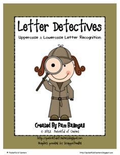 Your little detectives will love searching for uppercase and lowercase letters on these letter search worksheets!  Each worksheet is designed like ...