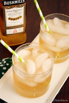 Irish Maiden Cocktail = whiskey + honey + grapefruit + ginger ale
