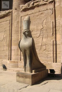 A definite.. we have always both shared a common interest and belief in Egyptian history Horus falcon statue, Edfu temple, Egypt