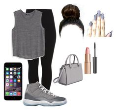 """""""Untitled #68"""" by daviyaxfashion ❤ liked on Polyvore featuring Pieces, MANGO, NIKE, MICHAEL Michael Kors, Charlotte Tilbury and NARS Cosmetics"""