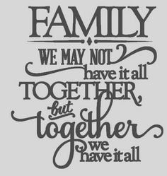 Vinyl Wall Lettering -  Quote Decal Sticker Art Saying Family- We may not have it all together