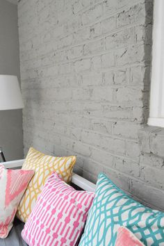 Young House Love | How To Paint A Brick Wall And Unify A Choppy Room