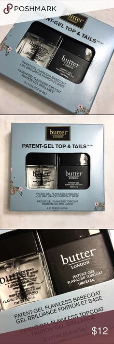 Gel Nail Polish Top & Base Coat Turn any color into a patent gel finish with this duo! Great stocking stuffer! Butter London Makeup