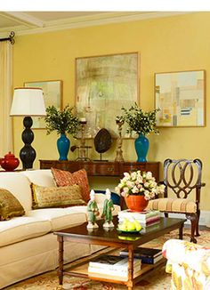 Charmant Yellow Living Room Walls Ideas | ... Decorating | Room Color Scheme Ideas |