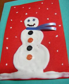3-D Snowman Greeting Card - Christmas Crafts for Kids - JumpStart