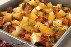 Csirkés rakott krumpli recept   Receptneked.hu (olcso-receptek.hu)