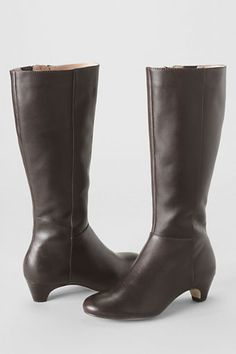 Women's Emory Low Heel Tall Boots from Lands' End $189