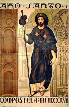 St James The Greater, San Rocco, Medieval Life, Religious Images, Saint James, Patron Saints, Pilgrimage, Travel Posters, Art Reference