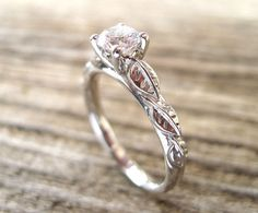 Leaf Engagement Ring Engagement Ring Antique Engagement by Benati