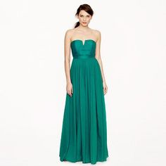 55 Nadia long dress in emerald silk. 25% off with code SECRET..