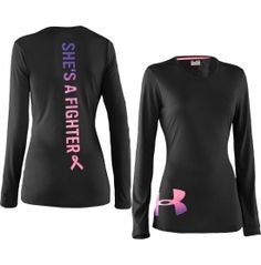 Under Armour Women's Power in Pink She's A Fighter Long Sleeve Crewneck Shirt - Dick's Sporting Goods