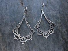 Ornate Tribal Drop Earrings by SashaBellJewelry on Etsy I Love Jewelry, Metal Jewelry, Jewelry Art, Silver Jewelry, Jewelry Accessories, Fashion Jewelry, Jewelry Design, Jewelry Making, Artisan Jewelry