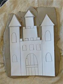 Materials: - Clay - Ceramic Tools - Paper - Pencils - Scissors - Black Tempera Paint Mixed with Water - Metallic Tempera Paint - Paintbrus...