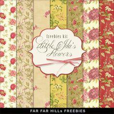 New Freebies Background Kit - Little Ida's Flowers (Far Far Hill)