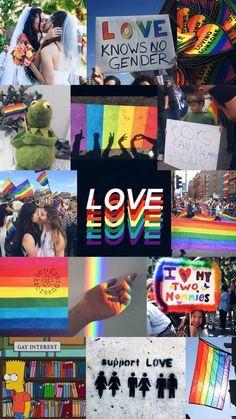 I love this im gay Gay Aesthetic, Aesthetic Collage, Lesbian Pride, Lesbian Love, Rainbow Wallpaper, Rainbow Aesthetic, Lgbt Community, Aesthetic Pastel Wallpaper, Jolie Photo