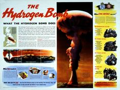 the British Government's 1957 civil defence poster on The Hydrogen Bomb.