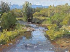 Illinois River (Colorado) by Keith Bond Oil ~ 6 x 8